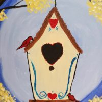 Bird house painting 2